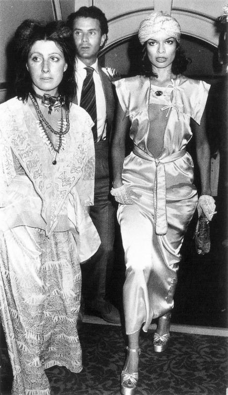 bianca jagger fashion style  icon of black